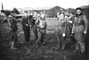 Peter at far right with 46 Squadron at Stapleford